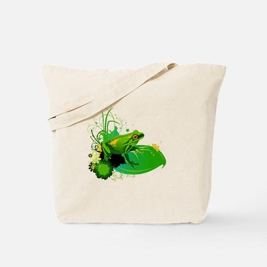 Funny Lily pond Tote Bag