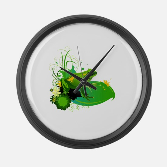 Cute Amphibians and reptiles Large Wall Clock