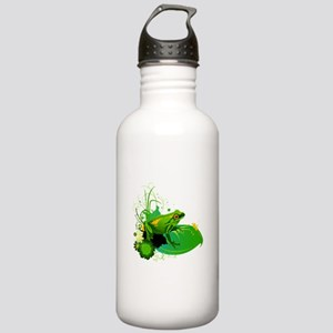 Bright Green Frog and Stainless Water Bottle 1.0L