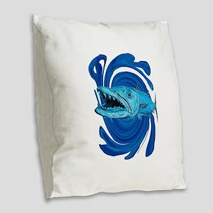 BARRACUDA Burlap Throw Pillow