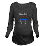 Garden Diva Long Sleeve Maternity T-Shirt