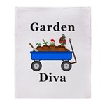 Garden Diva Throw Blanket