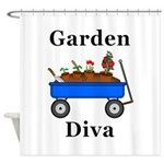 Garden Diva Shower Curtain