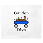Garden Diva King Duvet
