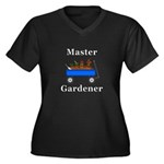 Master Garde Women's Plus Size V-Neck Dark T-Shirt