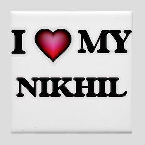 I love Nikhil Tile Coaster