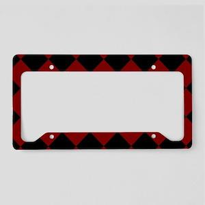 Diamond Checker Board License Plate Holder