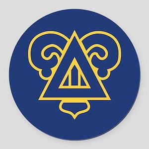 Delta Upsilon Badge Round Car Magnet