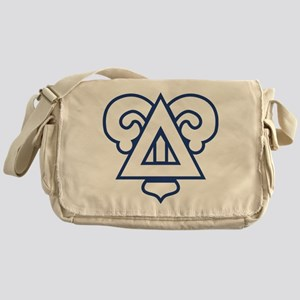Delta Upsilon Badge Messenger Bag