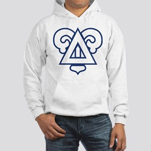 Delta Upsilon Badge Hooded Sweatshirt