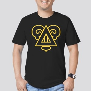 Delta Upsilon Badge Men's Fitted T-Shirt (dark)