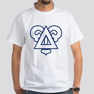 Delta Upsilon Badge White T-Shirt
