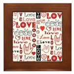 Love Words and Hearts Framed Tile