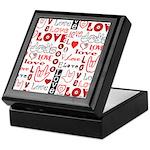 Love Words and Hearts Keepsake Box