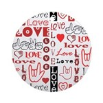 Love Words and Hearts Ornament (Round)