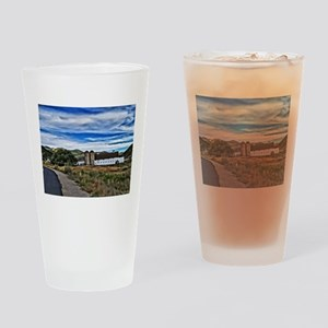 Barn and Trees Portrait Drinking Glass