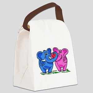 Elelphant Twins Canvas Lunch Bag