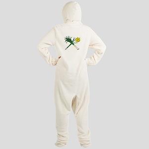 Leek and Daffodil Crossed Footed Pajamas