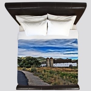 Barn and Trees Portrait King Duvet