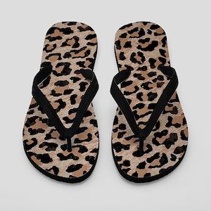 1cb6539110e72c cheetah leopard print Flip Flops