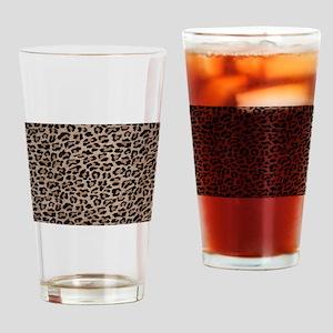 cheetah leopard print Drinking Glass