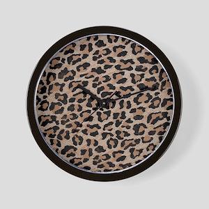 cheetah leopard print Wall Clock