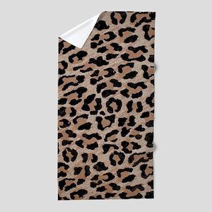cheetah leopard print Beach Towel