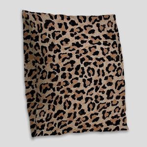 cheetah leopard print Burlap Throw Pillow