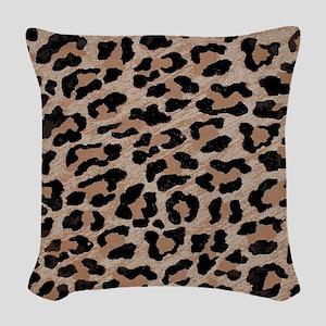cheetah leopard print Woven Throw Pillow