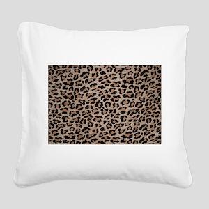 cheetah leopard print Square Canvas Pillow