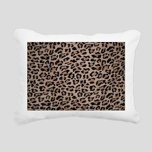 cheetah leopard print Rectangular Canvas Pillow