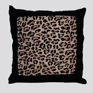 cheetah leopard print Throw Pillow