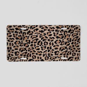 cheetah leopard print Aluminum License Plate