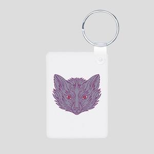Fox Head Mono Line Keychains