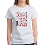 Love Words and Hearts Women's T-Shirt