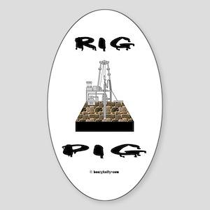 Rig Pig Oval Sticker