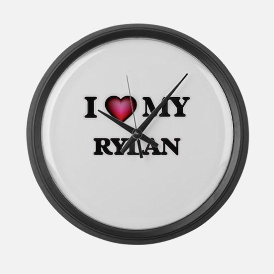 I love Rylan Large Wall Clock