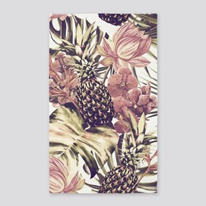 Tropical Pineapples Area Rug
