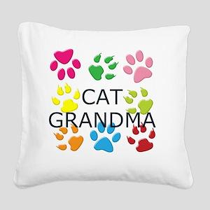 CAT GRANDMA Square Canvas Pillow