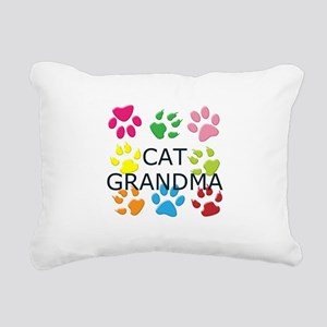 CAT GRANDMA Rectangular Canvas Pillow