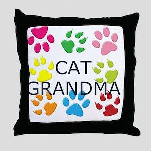 CAT GRANDMA Throw Pillow