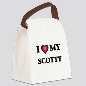 I love Scotty Canvas Lunch Bag