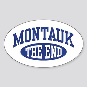 Montauk The End Sticker (Oval)
