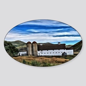Barn and Trees Portrait Sticker