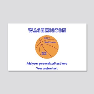 Basketball Personalized Wall Decal