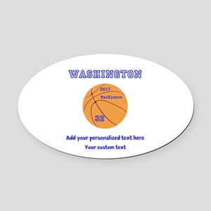 Basketball Personalized Oval Car Magnet