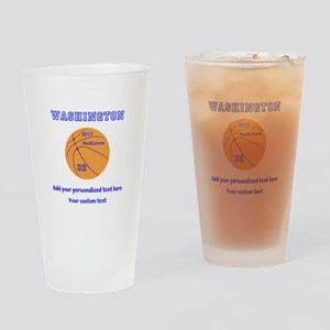 Basketball Personalized Drinking Glass
