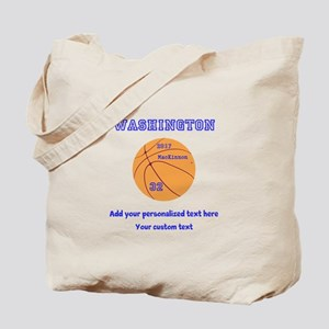 Basketball Personalized Tote Bag