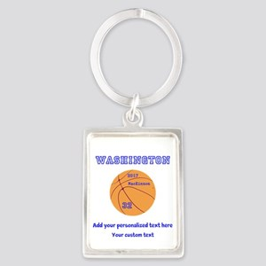 Basketball Personalized Keychains