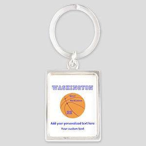 Basketball Personalized Keychains